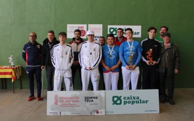 Laguar, Ondara, Petrer, Beniarbeig-Verger and Sella-Relleu fronton champions
