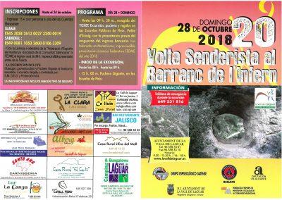 Folleto XX Vuelta senderista 2018-1