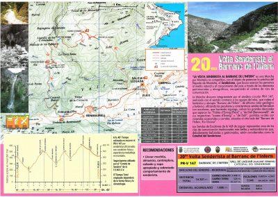 Folleto XX Vuelta senderista 2018-2